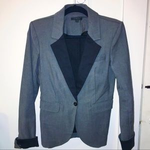 Rachel Zoe Women's Gray Blazer w/ Black Trim Sz 8
